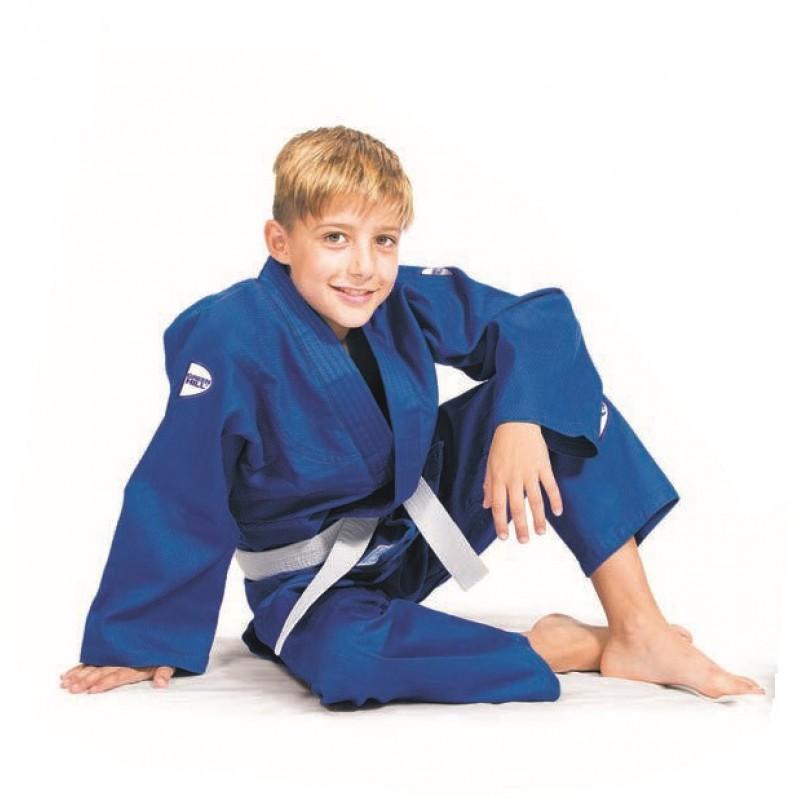 Кимоно для дзюдо Junior (белое/синее)